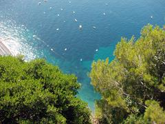 coast of amalfi - stock photo