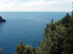 coast of amalfi - stock photo