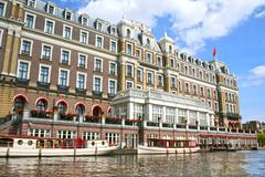 Amstel hotel in amsterdam Stock Photos