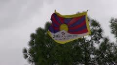 Tibet exile flag in Dharamsala, Himachal Pradesh, India Stock Footage