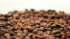 Coffee beans background rotation Stock Footage