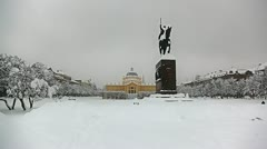 Zagreb winter time Stock Footage