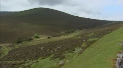 Moorland - pan Comeragh Mountains, Ireland. Stock Footage