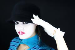 Portrait of the mime Stock Photos