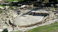 Theater of Dyonisus, Athens, Greece Stock Footage