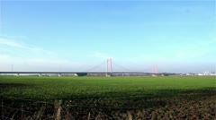 View of the bridge at Emmerich Germany - stock footage