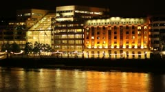 London bridge hospital at night - stock footage