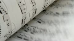 Music sheet book Stock Footage