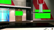 Virtual Set 12 - Balcony Newsroom Studio Background Shot Stock Footage