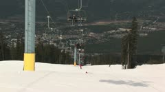 Whistler ski lift Stock Footage