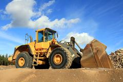 Wheel Loader at Sand Pit - stock photo