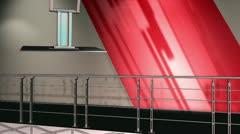 Stock Video Footage of Virtual Set 12 - Balcony Newsroom Studio Background Shot