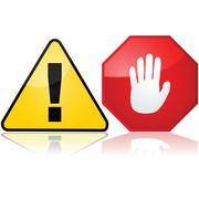 warning signs - stock illustration
