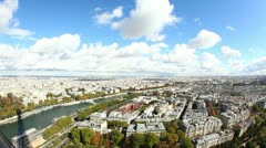 Panoramic View of Paris from Tour Eiffel - stock footage