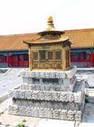 Acient lamp in forbidden palace, beijing china Stock Photos