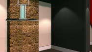 Stock Video Footage of Virtual Set 12 - Brick Wall Newsroom Studio Background Shot