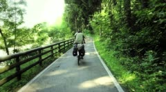 Recreational cycling in the nature Stock Footage