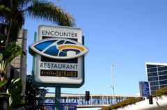 Encounter Sign LAX - stock photo