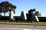 Stock Photo of LAX sign on Sepulveda Blvd