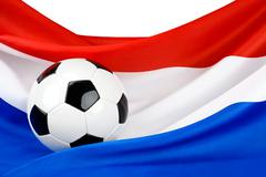 holland's passion for football - stock photo