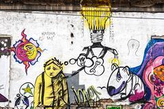 graffiti 4 - stock photo