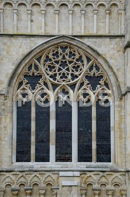 Stock photo of cathedral window exterior