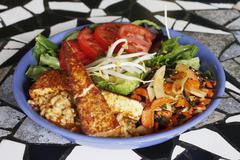 Tempeh Salad - stock photo
