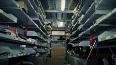 Spare parts in warehouse Stock Footage