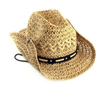 Straw hat isolated Stock Photos