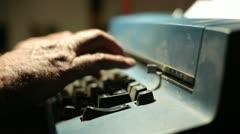 Hands Typing on Typewriter - stock footage