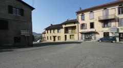 French Village Scene Stock Footage