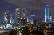 Ramat gan city at night. Stock Photos