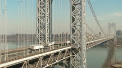 George Washington Bridge Traffic Timelapse 1 - stock footage