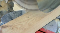 Miter saw cutting 2x4 Stock Footage