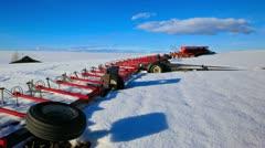 Red Harrow Farm Timelapse In Winter Stock Footage