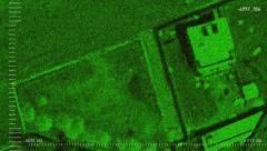 Satellite-Infrared video of Usama bin Laden raid by Seal Team 6 - stock footage
