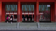 Heian Jingu Gate From Outside Stock Footage
