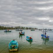 The fisherman boats - stock photo