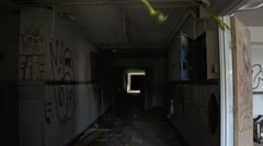 Urban Decay - Abandoned Building Interior Shot - Handheld Stock Footage