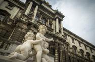 Cherub statues Vienna Stock Photos
