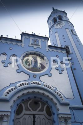 Stock photo of Bratislava Blue Church