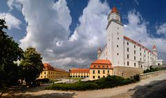 Bratislava Castle after renovations Stock Photos
