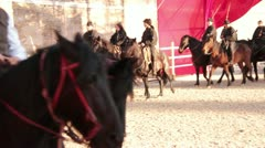 Traditional event with horses. Roman Carnival Stock Footage