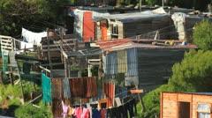 Hangberg Village shacks Stock Footage