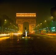 Arc de triomphe, paris Stock Photos