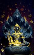 bodhisattva, the god of southern thailand. - stock photo