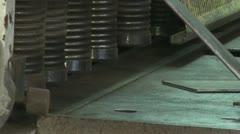 Metal under pressure Stock Footage
