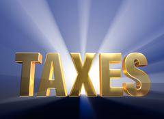 Stock Illustration of bold taxes