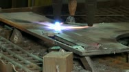 Stock Video Footage of Gas cutting of the metal
