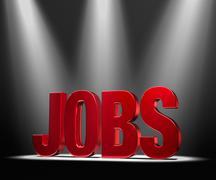 Stock Illustration of featuring jobs
